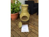 Small Clay Chimenea Free Cover