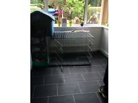 Medium size dog cage and fabric kennel