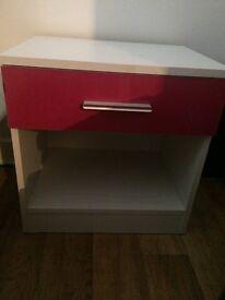 Girls pink & white 3 piece bedroom furniture set