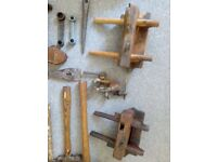 Old mixture of woodworking tools