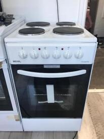 New Bexel 50cm cooker with solid hobs