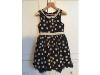 Beautiful next black & cream spotted dress