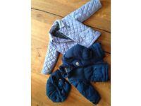 Boy and girl coats and sleeping bags