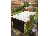 Sectional / Modular concrete single garage