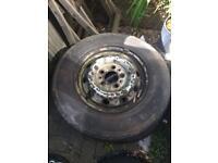 wheel & tyre x 2 (size 205/75R 16c )