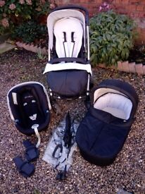 Mamas and papas 4 piece travel system including accessories
