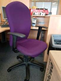 High quality purple office chairs £30 each