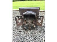 Antique solid fuel burning stove