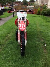 Honda crf 250r twin pipe