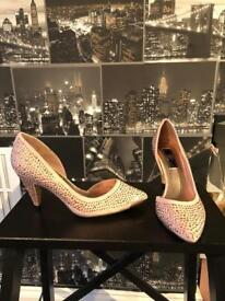 Brand new champagne coloured cat heels