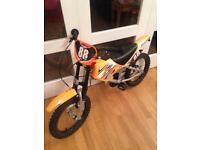 Boys motor cross style bike