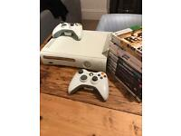 Xbox 360 plus controllers and games