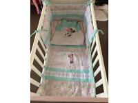 Minnie Mouse rocking crib