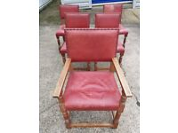 Solid Oak Dining chairs set
