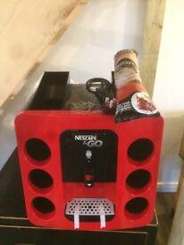 Brand new still in box Nescafé &Go hot drinks vend machine. With 8 free cappuccino