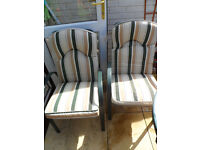 2 Padded Garden Chairs