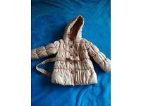 Mothercare girls winter coat 1.5 - 2 years