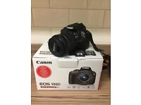 Canon EOS 100D Digital SLR Camera with 18-55mm zoom lens kit plus additional 40mm lens and case