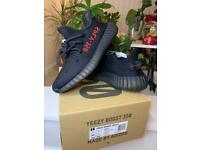 ADIDAS YEEZY BOOST 350 V2 CORE BRED BLACK/RED UK 7