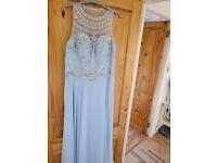 Womans Baby Blue Long Dress XL
