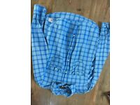Boys blue long sleeved shirt from H&M, size 12-13 years