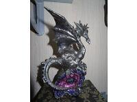 Silver Dragon Ornament Fantasy Figurine - New & still in box