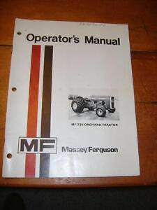 Massey Ferguson - MF 235  OrchardTractor Operators Manual