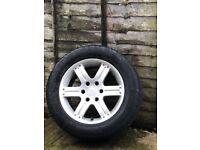 "18"" alloys and tyres Mitsubishi shogun"