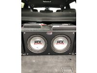 Mtx thunder 4500 subwoofers in box