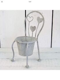 Shabby chic style chair planter