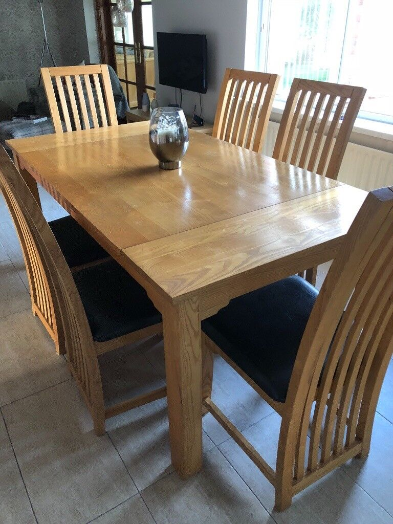 Used Oak Dining Table 6 Chairs In Randalstown County Antrim Gumtree