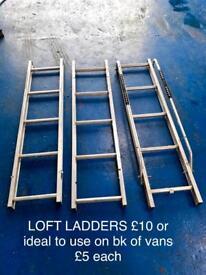 Ladders fir van or loft