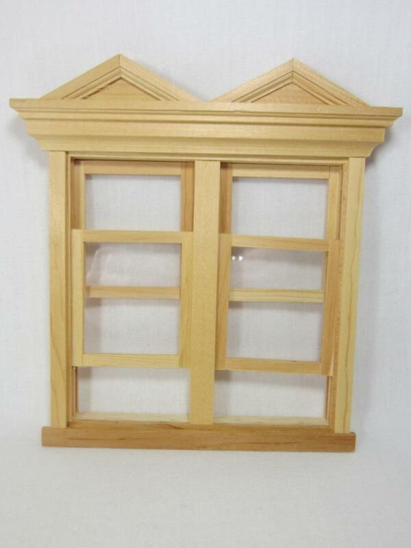 Double Hooded WORKING Victorian Window - Miniature Dollhouse 1:12 NIP Unfinished