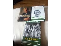 CELTIC FC FOOTBALL CLUB. BOOKS RELATING TO CELTIC FOOTBALL CLUB AND FORMER PLAYERS.