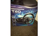 Thrustmaster T80 gaming wheel and pedals
