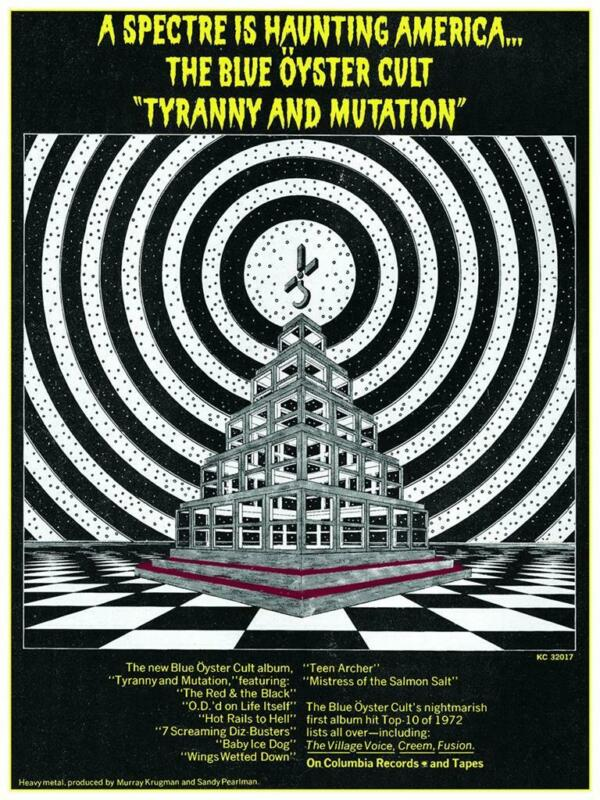 Blue Oyster Cult - LARGE POSTER - Tyranny and Mutation album promo wall art pic