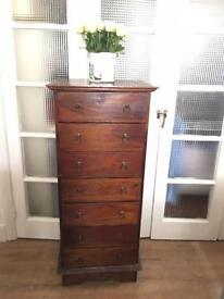ANTIQUE ENGLISH CHEST FREE DELIVERY LDN SOLID WOOD 🇬🇧