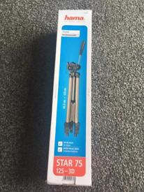 Hama Camera Tripod Star 75 123-3D brand New