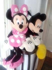 """2 New Disney soft toys 16"""""""