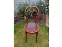 Antique JJ Kohn Mundus Bentwood Chair Bistro Cafe