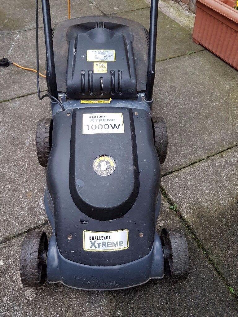 Challenge Xtreme lawnmower. Good working condition. 1000w