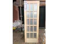4 off glazed clear pine doors