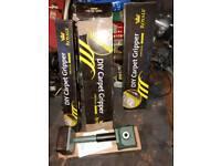 Carpet gripper rods and carpet stretcher tool