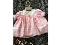 New born girls frilly dress