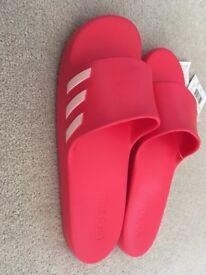 Women's Adidas aqualette slides, UK size 8, pink