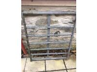 Galvanised metal gate