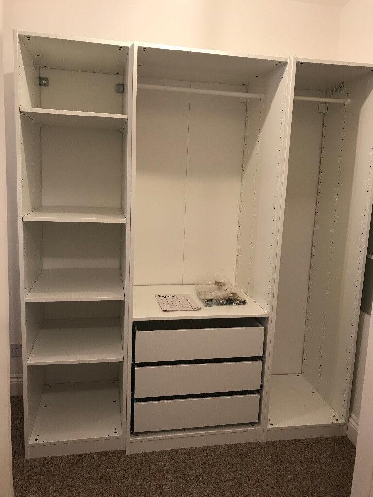 Ikea pax open wardrobe 175cmx58cmx201cm with drawers for Ikea utah hours