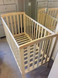 Cot and Matching Nursery Accessories