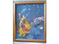 Winnie the Pooh Pine wood picture frame