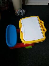 Plastic drawing table for kids
